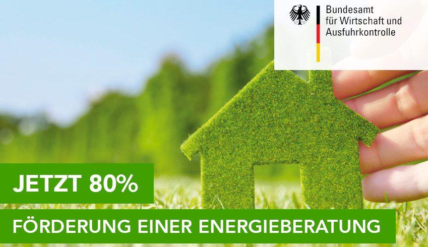 Jetzt 80% Förderung der Energieberaterkosten